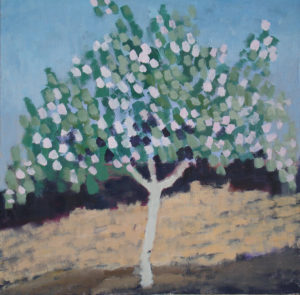 Flowering Quince. 1989 Acrylic on canvas. 100 x 100