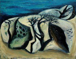 Among Rocks. 1977 Oil on canvas. 100 x 120