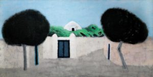 On the road. 1993 Acrylic on canvas. 100 x 200