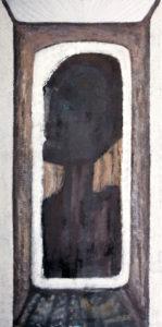 Portrait in an interior, 2014-15 Acrylic on canvas, 300 x 150 cm